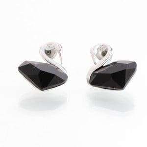 Kolczyki z kryształami Swarovski Elements Laura Bruni Black Swan