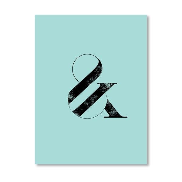 "Plakat ""Ampersand Blue"", 42x60 cm"