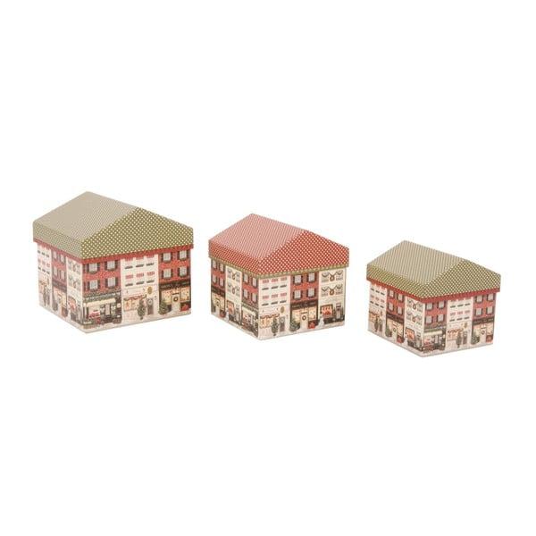 Zestaw 3 pudełek Houses