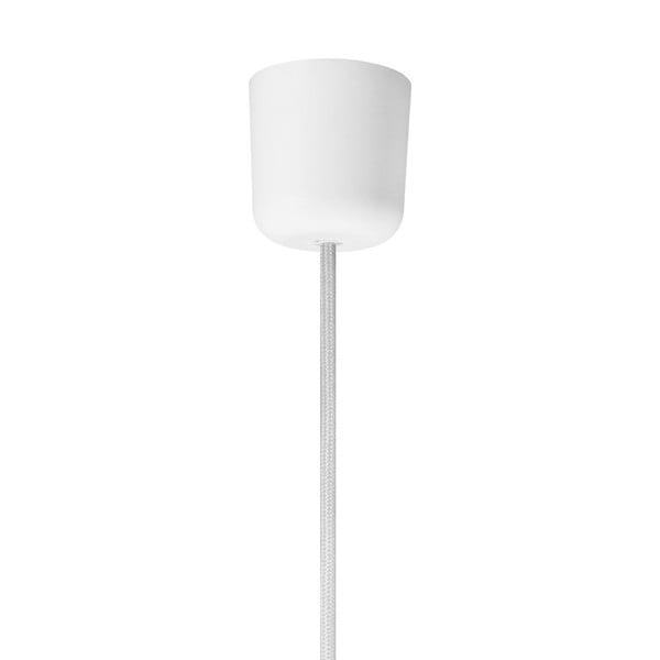 Biały kabel wiszący w tekstylnym oplocie Bulb Attack Uno
