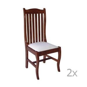 Zestaw 2 krzeseł z palisandru Massive Home Lina
