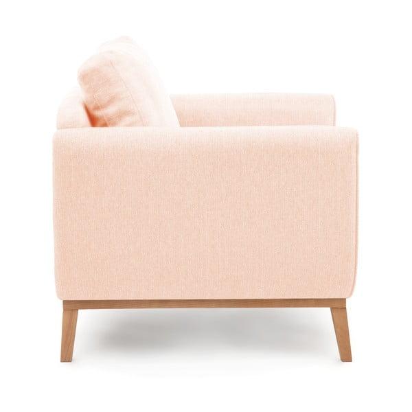 Jasnoróżowy fotel VIVONITA Milton
