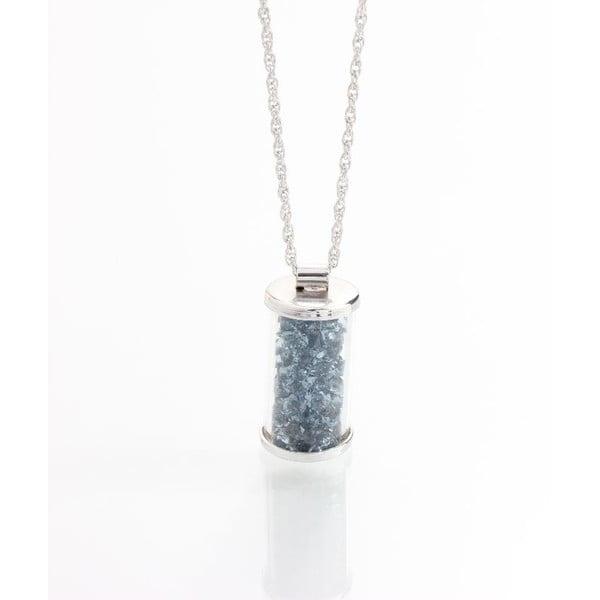 Szary naszyjnik z kryształami Swarovskiego Yasmine Ampule