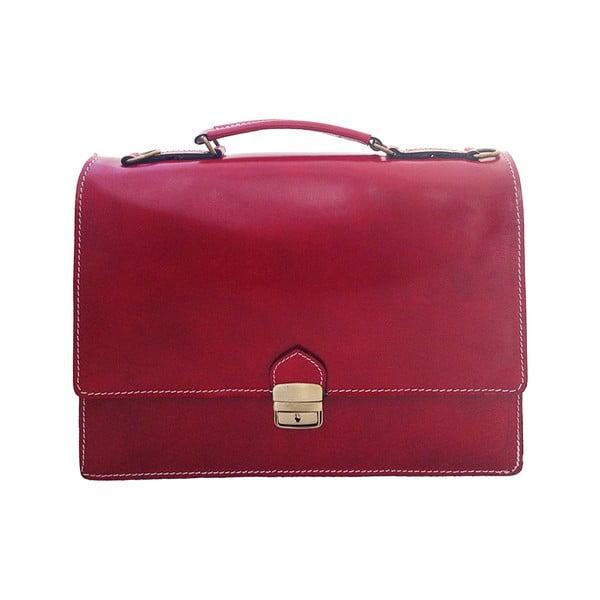 Skórzana torba Lambrusco, czerwona