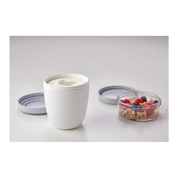 Różowy pojemnik śniadaniowy na jogurt Rosti Mepal Ellipse