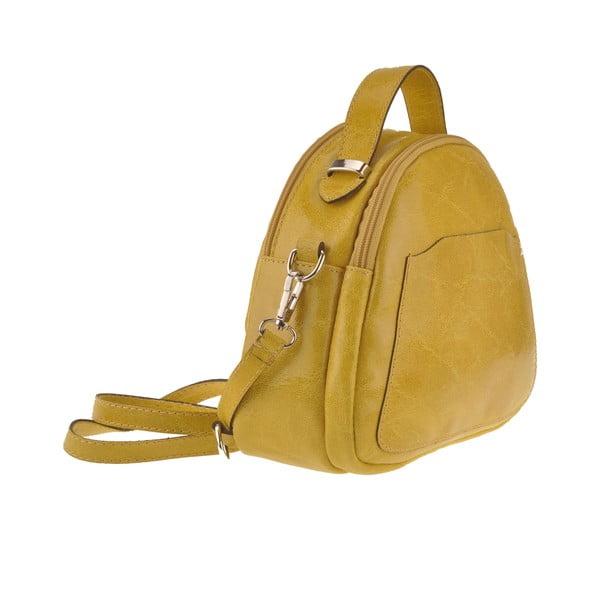 Żółta torebka skórzana Men
