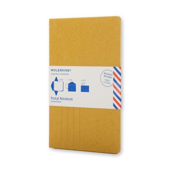 Żółty notatnik z okładką Moleskine Postal P