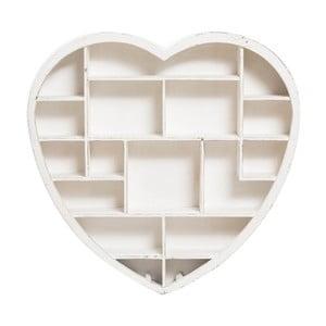 Wisząca półka drewniana w kształcie serca Crido Consulting Heart,79x81cm