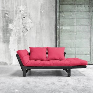 Sofa rozkładana Karup Beat Black/Magenta