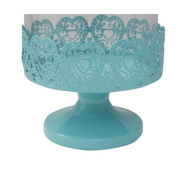Patera na tort Dolci 26 cm, niebieska