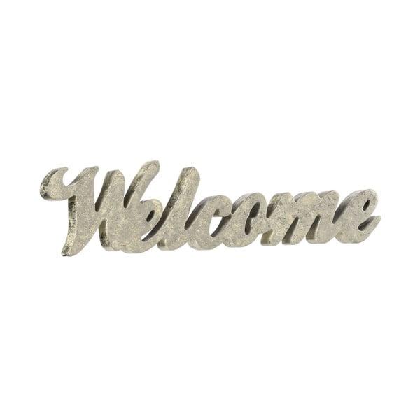 Dekoracyjny napis Welcome Silver