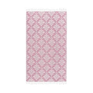 Różowy ręcznik hammam Kate Louise Serafina, 165x100cm