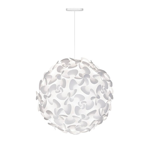 Biała lampa wisząca Lora XL