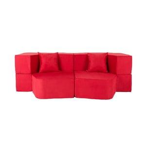 Rozkładana sofa wielofunkcyjna Sofa&Bed, czerwona