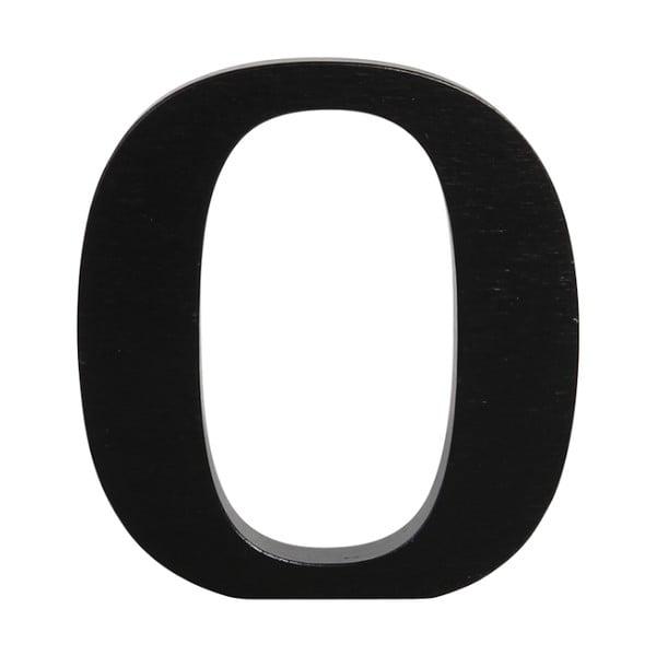 Czarna drewniana litera Typoland O