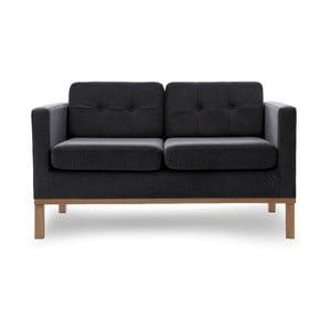 Sofa dwuosobowa VIVONITA Jonan Dark Grey, naturalne nogi