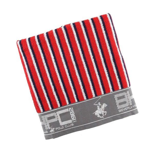 Ręcznik bawełniany BHPC 80x150 cm, niebiesko-czerwony