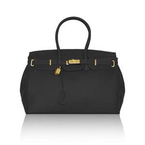 Skórzana torebka Emdo, czarna