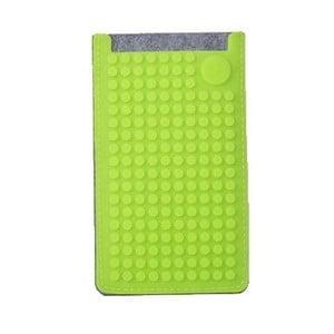 Pikselowe etui na telefon PixelArt, małe, szare/zielone