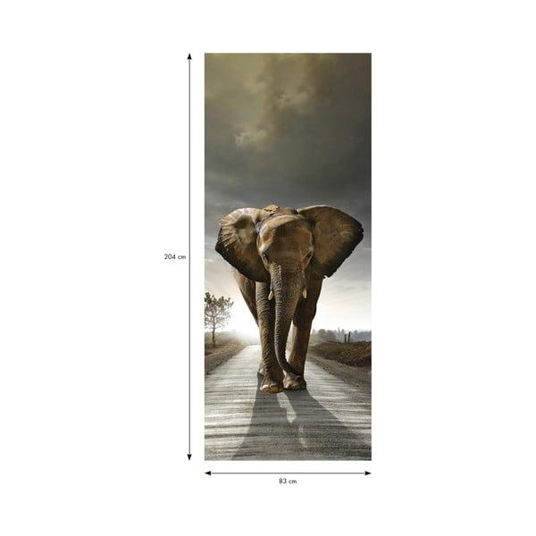 Naklejka adhezyjna na drzwi Fanastick Elephant