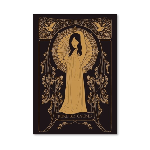 Plakat Reine Des Cygnes - Golden, 30x42 cm