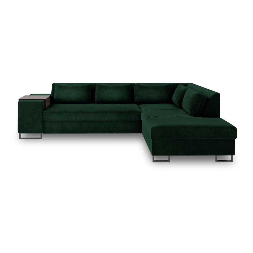 Zielona rozkładana sofa prawostronna Cosmopolitan Design San Diego