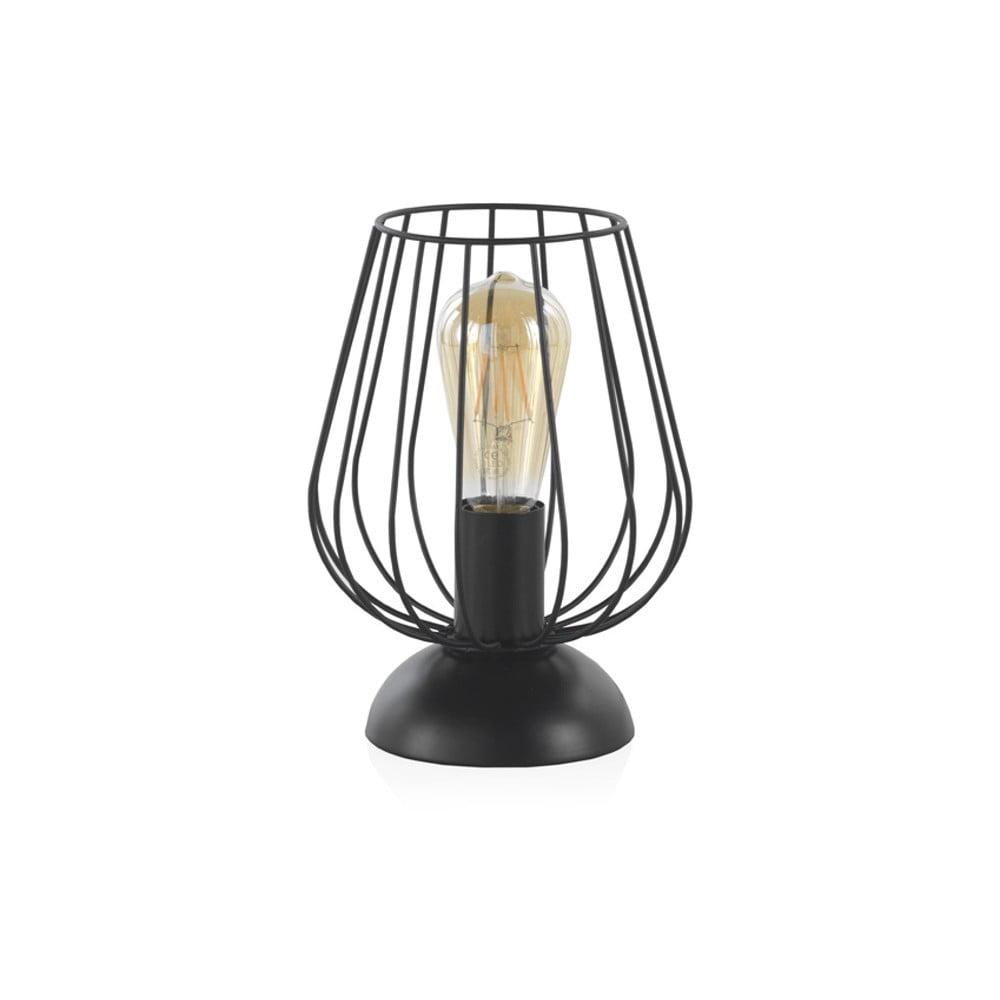 Czarna metalowa lampa stołowa Geese, wys. 26 cm
