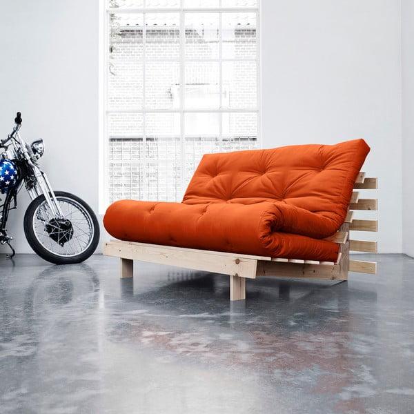 Sofa rozkładana Karup Roots Raw/Orange