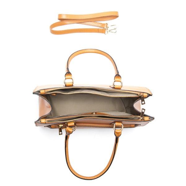 Skórzana torebka Renata Corsi 444 Cognac