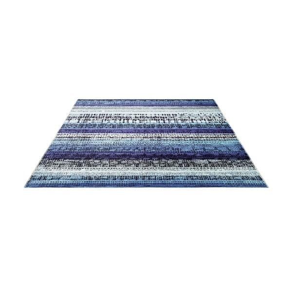 Dywan Esprit Graphic Edge Blue, 140x200 cm