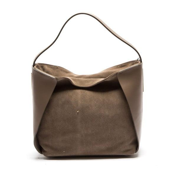 Beżowa skórzana torebka Isabella Rhea