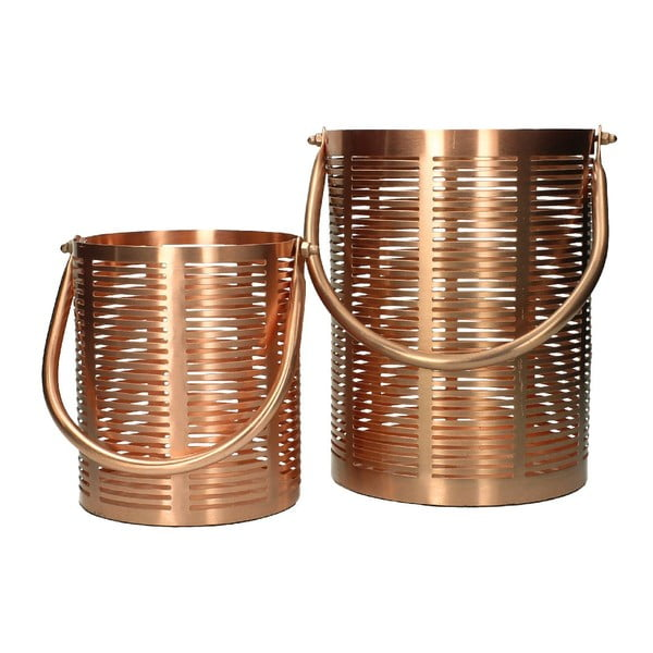 Zestaw 2 lampionów Iron Copper