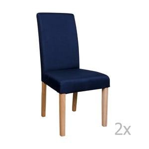 Zestaw 2 niebieskich krzeseł House Nordic Mora