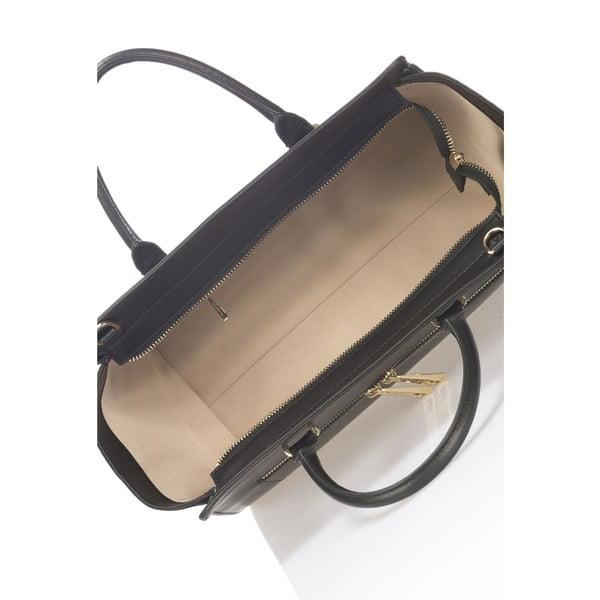 Skórzana torebka Krole Kristina, czarna