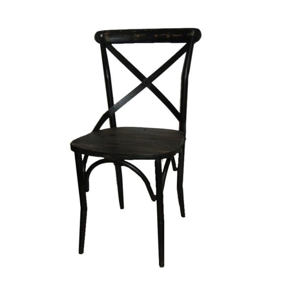 Krzesło metalowe Antic Line Chaise Noir