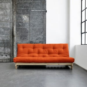 Sofa rozkładana Karup Fresh Natural/Orange