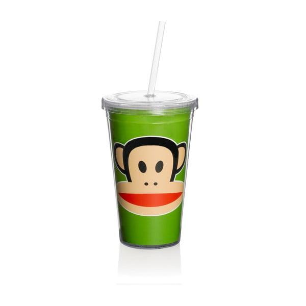Zielony kubek ze słomką Paul Frank
