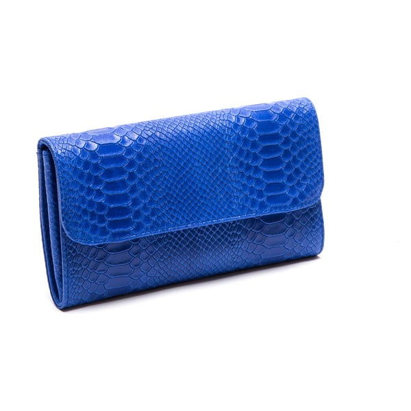 Skórzana kopertówka Isabella Rhea 8018, niebieska