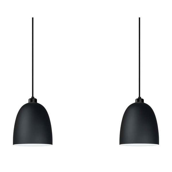 Czarna podwójna lampa wisząca Sotto Luce Awa