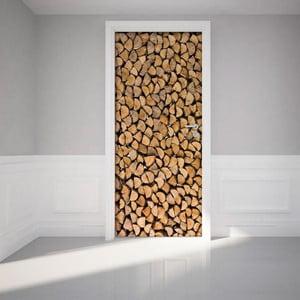 Naklejka   na drzwi Firewood