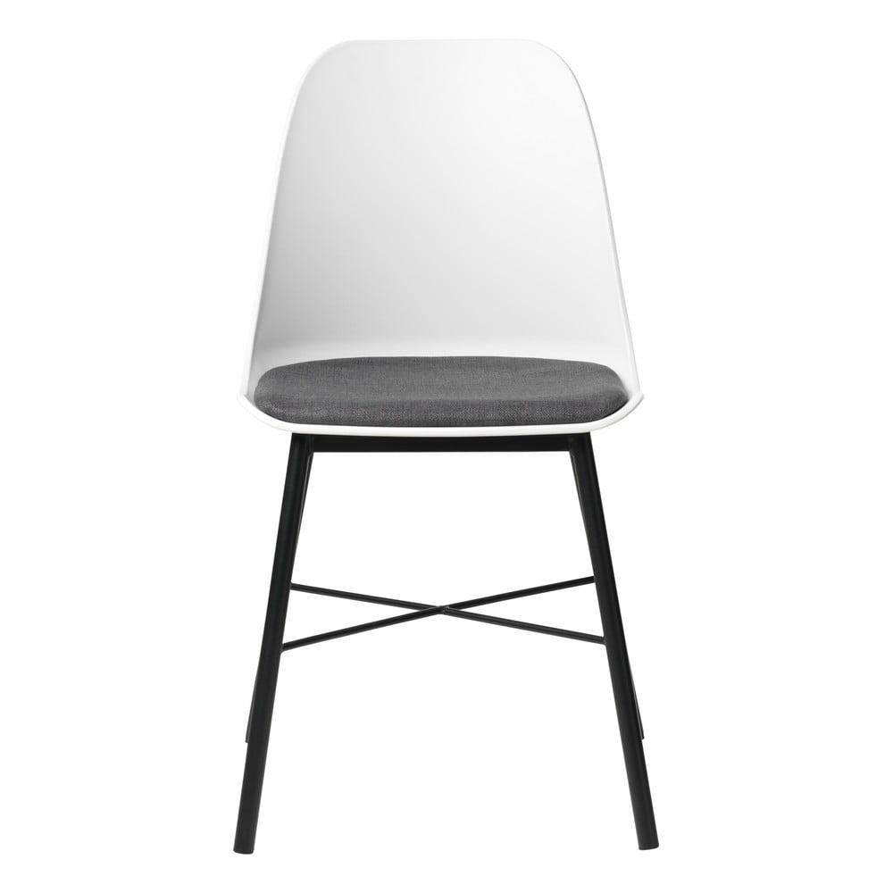 Zestaw 2 biało-szarych krzeseł Unique Furniture Whistler