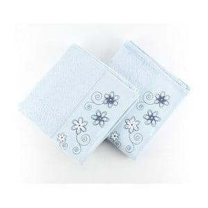 Zestaw 2 ręczników Gardenya Blue, 50x90 cm