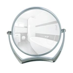 Chromowane lusterko kosmetyczne stojące Wenko Noale, Ø19 cm