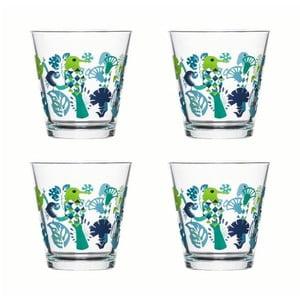 Zielono-niebieski zestaw 4 szklanek Fantasy 200 ml