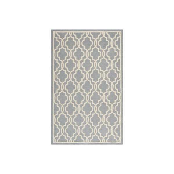 Wełniany dywan Elle 91x152 cm, szary