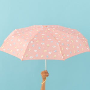 Różowa parasolka Mr. Wonderful Cloudy, szer. 108 cm