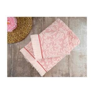 Zestaw 2 różowych ręczników Irya Home Royal, 50x90 cm