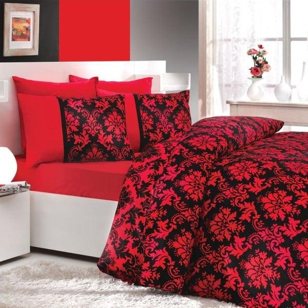 Komplet pościeli na łóżko podwójne Avangarde Red, 200x220 cm