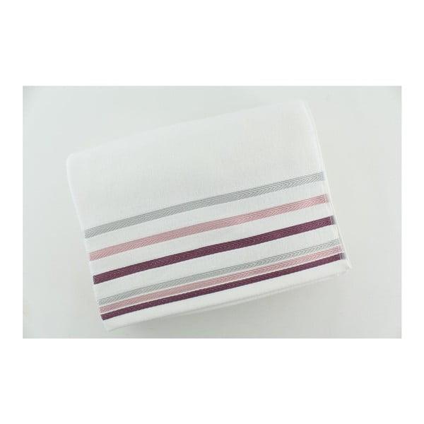 Komplet 2 ręczników White Purple, 70x140 cm
