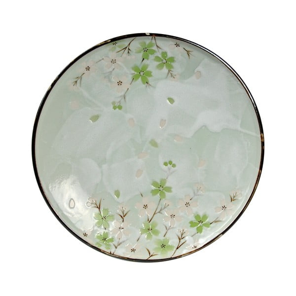 Talerz porcelanowy Green Cosmos, 19.5 cm